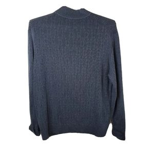 Tommy Bahama Sweaters - Tommy Bahama Mens 2XL Blue 1/4 Zip Knit Sweater